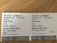 Joe McElderry - The Gloria x 2 tickets - Newcastle Theatre Royal