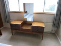 Uniflex Mid Century Dressing Table with Mirror