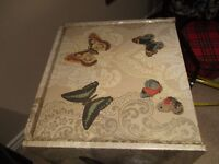 Decoupage Decorated 2 Drawer Bedside tables