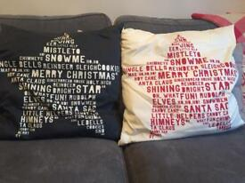 Christmas cushions from h&m