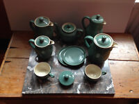 A selection of Denby Manor Green pottery