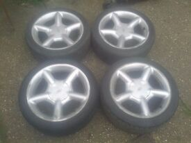 "Ford Mondeo 16"" cosworth replica alloys with toyo proxies"