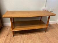 Mid century teak two tier coffee table