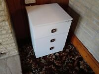 White bedside cabinet...SOLD subject to collection