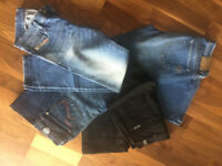 4 pairs Ladies Jeans - 26 inch waist - Armani, Diesel, Rock & Republic, 7 for all Mankind