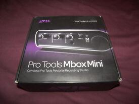 AVID Digidesign MBox 3 MINI + Pro Tools 8.03 , USB Audio / Midi interface for PC and MAC.