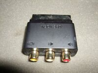 XBOX 360 SCART TO 3 RCA A/V ADAPTER AUDIO VIDEO