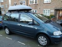 vw sharan+roof box 560L with thole bars+ vw cycle rack+one previous owner