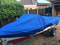 Almost finished vintage speed boat & trailer just needs engine