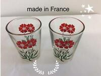Two small glasses
