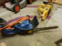 2 x electric chainsaws