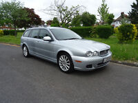 Jaguar X-Type 2.0 D S 5dr 2008, ESTATE,ONE FORMER KEEPER ELECT ADJUSTABLE SEATS, PART LEATHER