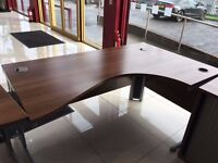 walnut 1.6 meter office radial desk