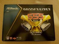 ASROCK 980DE3/U3S3 AM3+ MOTHERBOARD. BRAND NEW NEVER USED