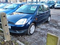 2003 Ford fiesta 1.4 petrol 5 door hatch back the car is sold with a full year mot tidy car