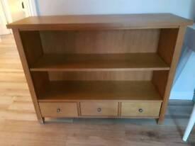 Oak book shelf with matching TV unit