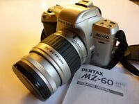 PENTAX MZ-60 35mm SLR FILM CAMERA AS NEW USED ONCE