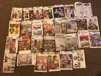 Job lot 30 craft sewing patterns new and used