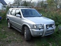 Vauxhall Frontera Mk2 4x4 Tdi 16v Olympus, Repairs only as MOT ends 6th Nov. drives and pulls well.