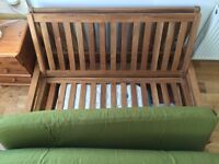 Futon company Oak double futon