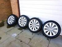 "Skagen 17"" alloys with tyre"