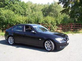 "BMW 3 SERIES 2.0 320i SE 4DOOR BLACK 2006 ON PRIVATE PLATE 18"" wheels"