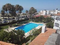 Málaga 3 bed first line beach, about 200mt square with solarium + swimming pool and many more