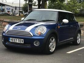 MINI COOPER 2008 (57 REG)*£2499*FULL HISTORY*LEATHER INTERIOR*PX WELCOME*DELIVERY NATIONWIDE
