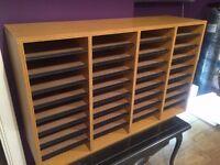 Safco Wood Adjustable Literature Organiser, 36 Compartment, Oak