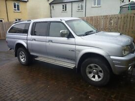2005 Mitsubishi L200 TD 4WD LWB WARRIOR DCB, with Crew Cab, Tow Bar and Twin Electrics