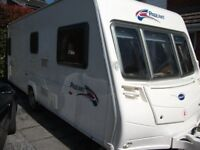 **FIXED BED 4 BERTH BAILEY BURGUNDY,MOTOR MOVER &SOLAR PANEL FITTED, EXC CONDITION,2008**