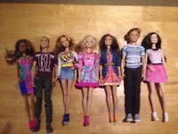 BARBIE AND KEN FASHIONISTA DOLLS +CLOTHES+ACCESORIES BUNDLE