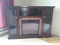 Electric Fireplace with storage