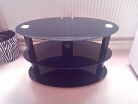 Next Black Glass TV Stand Perfect Condition Like New £50