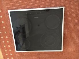 Neff T1722 Ceramic Hob, black with chrome surround