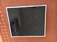 Neff T1722 Ceramic Hob, black with chrome surround