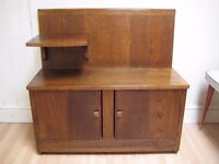 Lovely Art Deco Hall Bench / Cupboard from the 1930s - Made of Oak - Excellent Original Condition