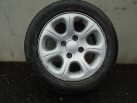 4 Used R14X185 Alloy wheels with tyres