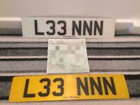 Registration Plate 'L33 NNN' For Sale.. On DVLA V778W Retention Document Ready to Go!