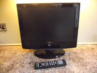"""Neon 19"""" TV DVD with remote control."""