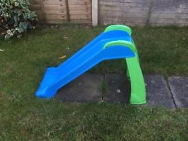 Good condition blue and green kids slide