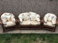 Wicker Sofa 3 Piece Suite