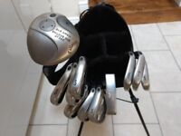 Full set of Callaway Steelhead Golf Clubs, including Nike golf bag