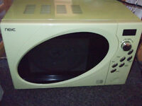 Microwave oven, green 800w limited settings