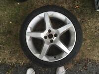 "17"" 4x100 Vauxhall Corsa alloy wheel single"