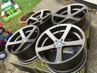 "Brand new Genuine 19"" cades staggered concave 5x112 Audi Vw Mercedes"