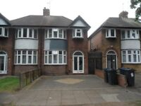 3 BEDROOM SEMI DETACHED HOUSE TO LET, PERRY BARR, PENDRAGON ROAD, UNFURNISHED
