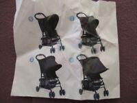 Blackout/sun protector for the pushchair. UV 50+ sun protection