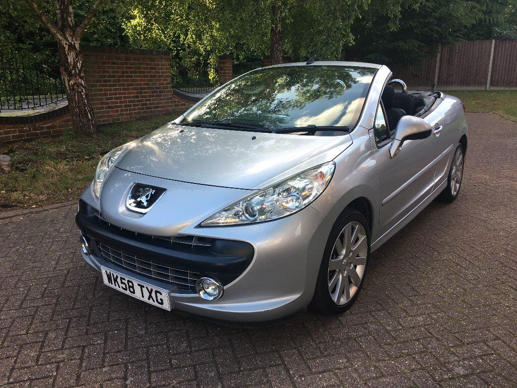 2008 peugeot 207 cc 1 6 diesel convertible in norwich norfolk gumtree. Black Bedroom Furniture Sets. Home Design Ideas