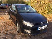 2013 PLATE VW POLO MATCH EDITION 1.2 BLACK EXCELLENT CONDITION CAT C 38,000 MILES